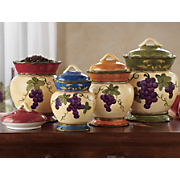 Canisters Grape 4 Piece Set