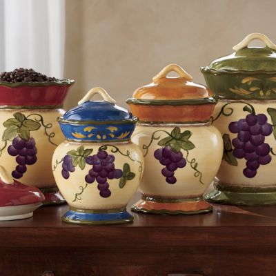 4-Piece Grape Canister Set