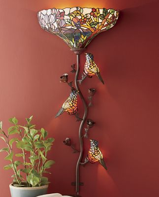 Wall Torchiere Lamps : Tiffany-Style Wall Torchiere from Seventh Avenue DU74054