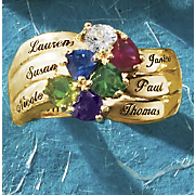 Name Birthstone Heart Band