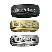 Stainless Steel Personalized Spinner Ring