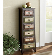 Kynan 6-drawer Tall Scrolled Console