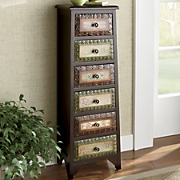 Kynan Scrolled Tall 6 drawer Console