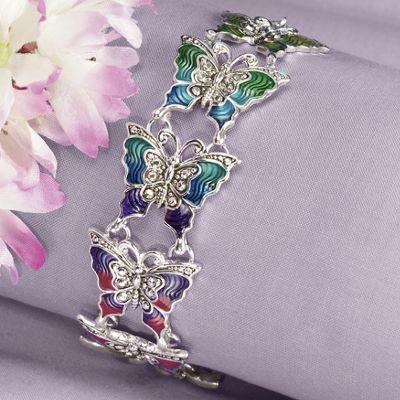 Jeweltone Butterfly Link Bracelet
