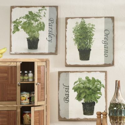 3-piece Spice of Life Herb Art Set