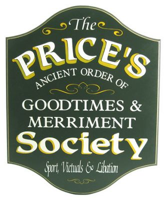 Goodtimes & Merriment Society Sign