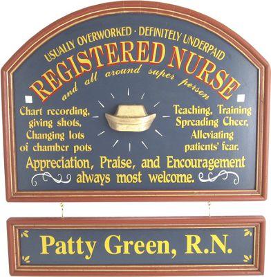Registered Nurse Sign & Nameboard