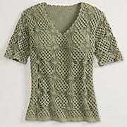 Crochet Starburst Sweater