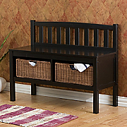 Entry Bench with Storage Baskets