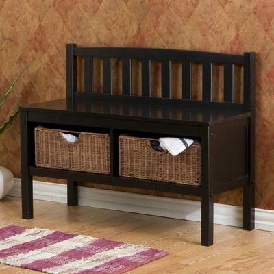 Entry Bench With Storage Baskets From Seventh Avenue 75041