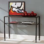 Metal Glass Sofa Table