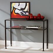 Metal/Glass Sofa Table