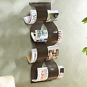 Wave Wall-Mount Magazine Rack