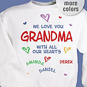 Personalized Sweatshirt All Our Hearts