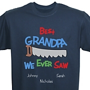 Personalized Navy Tee Best We Ever Saw