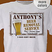 Personalized Tee Beer Service