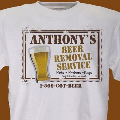 Beer Service Personalized Tee