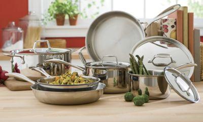 10-Piece Tri-play Cookware Set