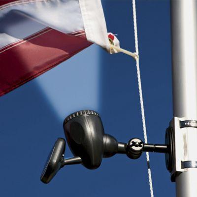 solar powered flag pole light from ginny 39 s ju75422. Black Bedroom Furniture Sets. Home Design Ideas
