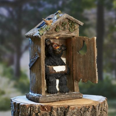 Outhouse Bear Solar Light