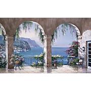 Mediterranean Arches Mural