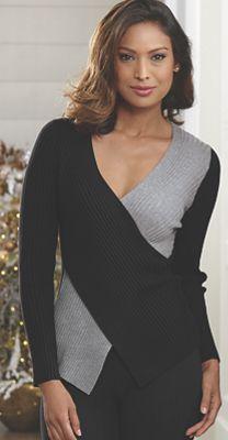 Deanna Colorblock Crisscross Sweater