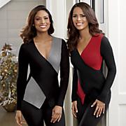 Sweater Deanna Colorblock Crisscross