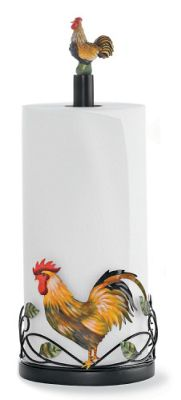 Rooster Paper Towel Holder From Seventh Avenue 75861
