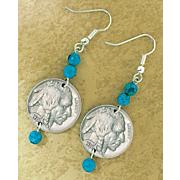 Buffalo Nickel Turquoise Earrings