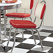 Retro Dining Table and Set of 2 Java Joint Kitchen Chairs