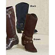 Classique Stud and Buckles Boot