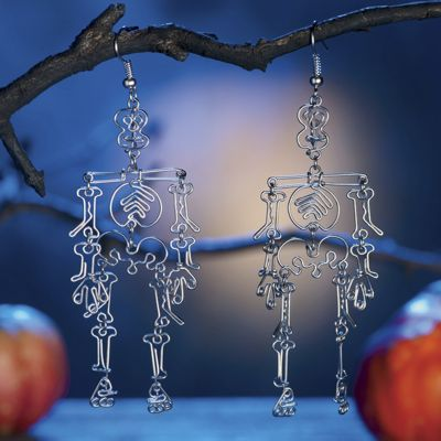 Wire Skeleton Earrings
