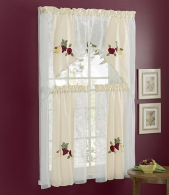 4-Piece Ambrosia Kitchen Curtain Set