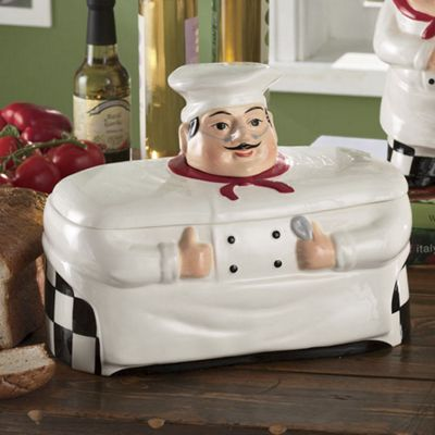 White Chef Breadbox From Montgomery Ward Iv76838