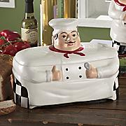White Chef Bread Box