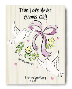 True Love Never Grows Old Canvas Sign