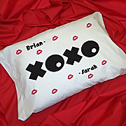 Set Of Two XOXO Pillowcases