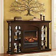 Double Curio Fireplace 2