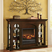 Double Curio Fireplace