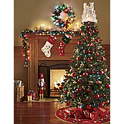 Canadian Pine Tree Wreath and Garland