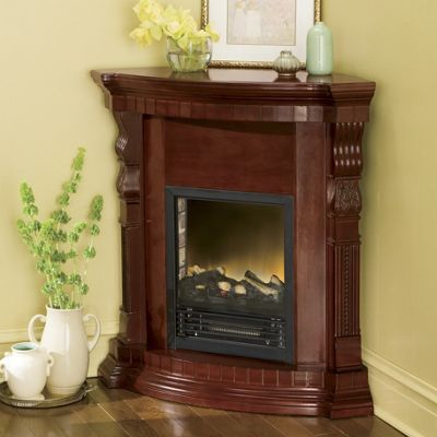 convertible corner electric fireplace from midnight velvet