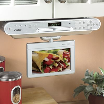 TV/DVD Player, Coby 7 Inch Undercabinet