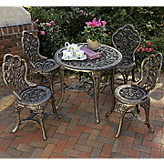5 piece Bronzed Patio Set
