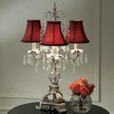 Burgundy Chandelier Lamp