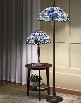 Shades of Beauty Multicolored Stained Glass Floor Lamp