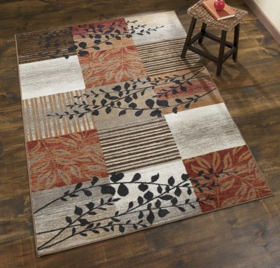 Boxed Leaf Rugs