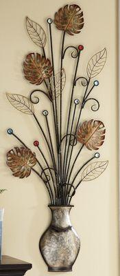 Jeweled Leaf Wall Art