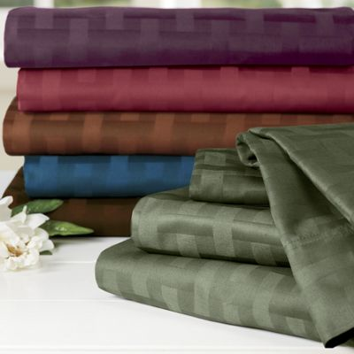 500-Thread Count Basket Weave Sheet Set