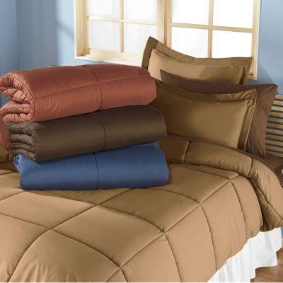 3-Piece Reversible Down-Alternative Comforter Set