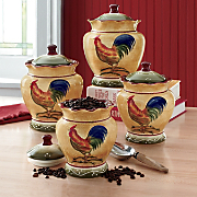 Canisters Rooster 4 Piece Set